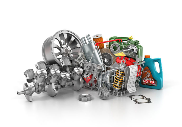 Car parts for the active finishing of a vehicle